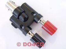 Adapter  BNC Buchse auf 2 x 4mm Polklemmen / Schraubklemmen ( K3B )