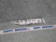 """(6) New NSS Rolls Of """"Happy Birthday"""" Crepe Streamers 30' Long Party Decorations"""