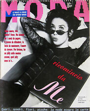 MODA 105 1993 Isabelle Adjani Claudia Schiffer INXS Magic Johnson Helmut Newton