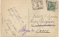 P7372  Firenza, Santa Maria a Monte,   annullo tondo riquadrato 1910