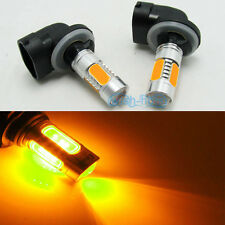 2Pcs Yellow 881 Car LED Bulbs Fog/Driving lights Lamp Projector Lens 886 894