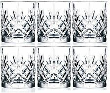 RCR Crystal Melodia Whisky Vodka Shot Glasses Cups Tumblers 230ml Set of 6 Boxed