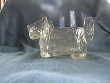 VINTAGE CLEAR GLASS SCOTTIE DOG SCOTTISH TERRIER CANDY CONTAINER CREAMER Pitcher