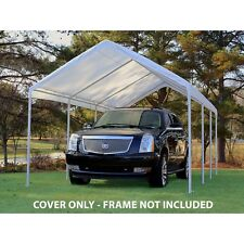 King Canopy 10 feet x 20 feet Drawstring Cover Only (Frame Not Included)- White