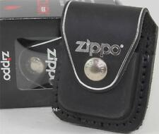 Zippo Black Leather Lighter Pouch/Case/Holder w/Belt/Boot Clip Made In U.S.A.
