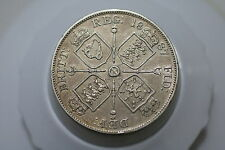 Uk Gb Double Florin 1887 Silver Nice Details Victoria A64 #K8708