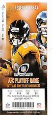 2015 DENVER BRONCOS VS INDIANAPOLIS COLTS PLAYOFF TICKET STUB MANNING VS LUCK