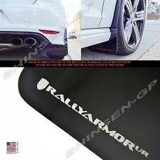 "Rally Armor UR ""Black Mud Flaps with Silver Logo"" for 2015+ VW MKVII Golf R"