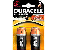 8 x Duracell C Size Plus Power Alkaline Batteries (LR14, MN1400, MX1400, BABY)