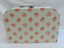 Shabby Chic Country Rose Suitcase Style Storage Box - NEW