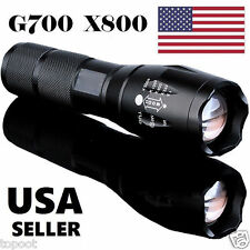G700 X800 5000Lumen Zoomable XML T6 LED 18650 Flashlight Focus Torch Lamp Light