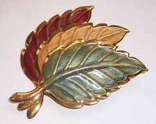VINTAGE     ''  FALL LEAFS   ''   BROOCH PIN