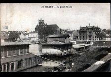 MEAUX (77) BATEAU-LAVOIR animé , QUAI THIERS en 1919