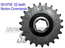 06-0759 GEARBOX SPROCKET 22 teeth Norton Commando PIGNONE GETR. 530 5/8x3/8 CHAIN
