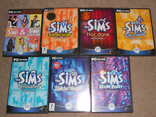 THE SIMS 1 COLLECTORS JEU DE BASE 7 PACKS D'EXPANSION paquet PC COMPLET
