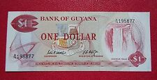 1966  Guyana One (1) Dollar Banknote    Serial # A/74 195877       Uncirculated