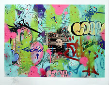 Graffiti Legend  COPE2 -LARGE UNIQUE 1/1 Print- as Seen in Banksy, Cope2, OBEY