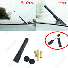 1Pc Car Black Carbon Fiber Antenna Stubby Bee Sting For Mazda 3 SP23 Mazda 6