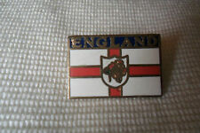 A nice England name and flag pin lapel badge oblong, free u.k. p&p