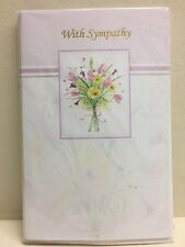 6 With Sympathy Greeting Cards Funeral Flowers Kaleidoscope