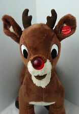 """BUILD-A-BEAR PLUSH 16"""" RUDOLPH THE RED-NOSED REINDEER-SOFT & CUDDLY"""