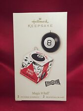 Magic 8 Ball - 2008 Hallmark Ornament - Eight Ball - Mattel Game - Box & Ball