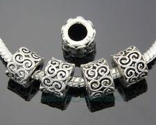 50pcs Bulk Lots Tibetan Silver Beads Fit Bracelet ZY131