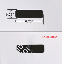 "SECURITY LABEL SEAL STICKER BLACK TAMPER EVIDENT VOID PS3 XBOX .75"" X .25"" 1,000"