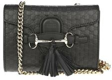 NEW GUCCI MICROGUCCISSIMA BLACK LEATHER EMILY MINI CROSSBODY BAG SHOULDER BAG