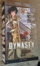 Dynasty Alexis Barbie Doll Gold Dress Collector Pink Label NRFB Hollywood TV 10