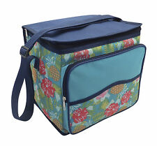 Country Club Large Cool Cooler Picnic Bag Tropical Blue Insulated Camping Travel