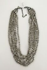 "LIA SOPHIA GUN METAL MULTI-STRAND 16""-19"" NECKLACE NWT"