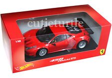 Hot Wheels Ferrari 458 Italia GT2 1:18 Diecast Model Car Rosso Corsa Red BCJ77
