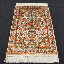 Türkischer Seidenteppich 65 x 46 cm Hereke Seide Turkish Silk Carpet Rug Tapis