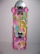 "DISNEY PRINCESS CINDERELLA RAPUNZEL AURORA 21"" MAPLE WOOD SKATEBOARD NEW!"