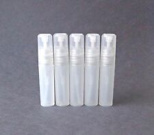 5 Clear Refillable Perfume Atomizer Plastic Mini Spray Empty Bottles 5 ml .17 oz