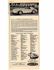 1958 DEVIN KIT CAR  ~   CLASSIC ORIGINAL PRINT AD