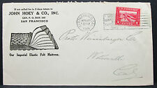 US John Hoey ADV Cover San Francisco Panama Canal Stamp 1915 USA Brief (H-6330