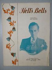 HELL'S BELLS Sheet Music 1932 ART KASSEL Popular #2 Hit artwork little devil