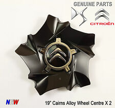 "2x Citroen DS4 DS5 C4 19"" Cairns Style Alloy Wheel Centre New Genuine 9670494377"
