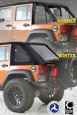 Smittybilt Bowless Combo Top 07-16 Jeep Wrangler JKU 4 Door 9083235 Black