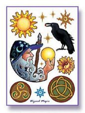 WIZARD MAGIC Temporary Tattoos Set Wiccan Pagan T5