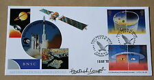 EUROPE IN SPACE 1991 BRADBURY FDC JUNO MISSION H/S SIGNED BY HEATHER COUPER