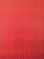 SCHUMACHER Wallpaper 5 Double Rolls Garnet Ruby Red Scarlet Wavy Stripe Plaid