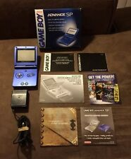 Nintendo Game Boy Advance SP GBA SP Launch Edition Cobalt Blue Complete In Box!!