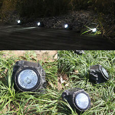 Solar Powered 4-LED Rock Light Spotlight Outdoor Garden Patio Decking Decoration