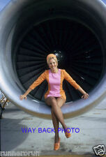 """5"""" by 7"""" PHOTO REPRINT - PSA AIRLINES FLIGHT ATTENDANT - ENGINE POSE, SEXY"""