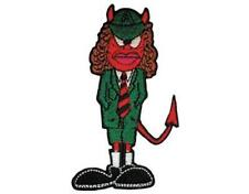 OFFICIAL LICENSED - AC/DC - ANGUS DEVIL SHAPED WOVEN SEW-ON PATCH ROCK