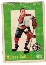 1X MURRAY BALFOUR 1959 60 Topps #33 GVG 59 1960 Black Hawks