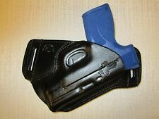 S&W M&P SHIELD 3.3 45 CAL. FORMED LEATHER,SOB, OWB HOLSTER, RIGHT HAND